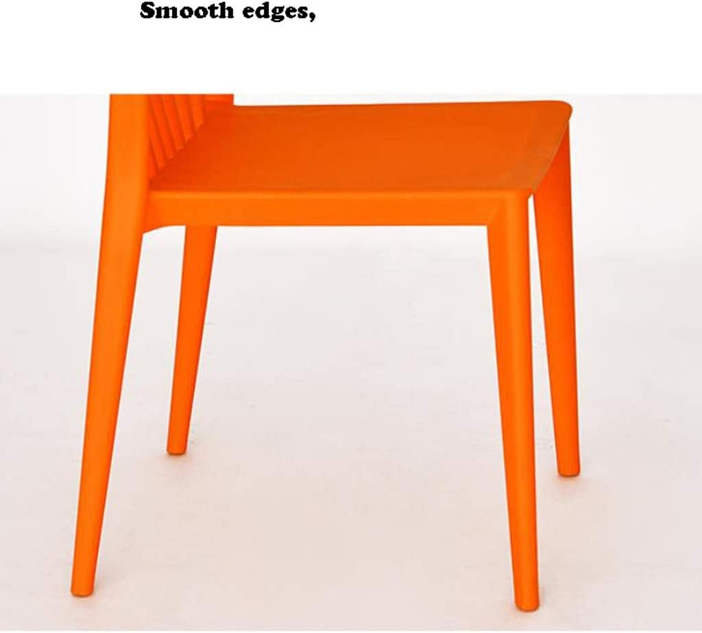 Chaise Gratuit Simple Bureau étudiant de Maquillage Tabouret Retour à la Maison à Manger d'ordinateur Solide (Color : Black) Orange