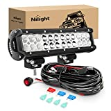 Nilight - ZH007 Led Light Bar 12 Inch 72W Spot Flood Combo...