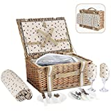 Best Picnic Baskets - G GOOD GAIN Willow Picnic Basket Set Review