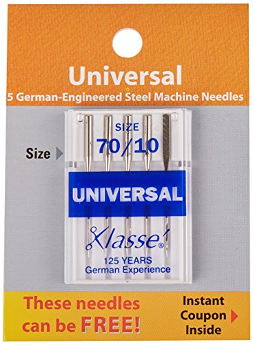Tacony Corporation A5100-7010 Klasse Universal Machine Needles-70/10 5/Pkg