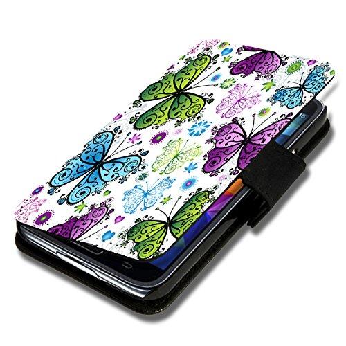 Book Style Flip Handy Tasche Hülle Schutz Hülle Schale Motiv Foto Etui für LG Bello 2 / Bello II - Flip X15 Design10