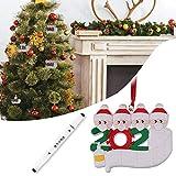 GXZOCK Adornos Arbol Navidad, Adorno Familiar Sobreviviente, Adornos de Navidad Para la Casa, Adorno Navideño 2020, Navidad Decoración Casa, Adornos Navideños (Familia de 1)