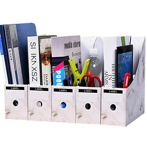 Sunfauo Revistero Archivador Organizador Papeles Escritorio Revista Titular Archivo Almacenamiento de Archivos Organizador de Oficina de Almacenamiento