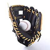 <span class='highlight'><span class='highlight'>Jklt</span></span> Durable Baseball Glove Two-layer Leather Baseball Gloves Batting Gloves, Young Adults Throwing Gloves Thickened Lining Widely Used (Color : Orange, Size : Adult 12.5