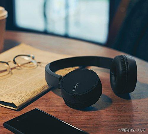 ソニーワイヤレスヘッドホンWH-CH500:Bluetooth対応最大20時間連続再生マイク付き2018年モデルブラックWH-CH500BC
