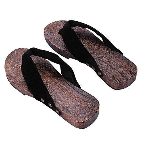 Zehensandalen Holz Herren Damen Sandalen Verstopfen Hölzern Hausschuhe Outdoor Plattform Schuhe Japanische Holzschuhe Pantoletten Flip Flops Pantoffeln Strandschuhe Badeschuhe Surfschuhe