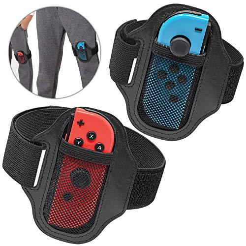 [2 Pack] Leg Strap for Nintendo Switch Joycon, Adjustable Elastic Sport Movement Leg Strap for Nintendo Switch Ring Fit Adventure Game
