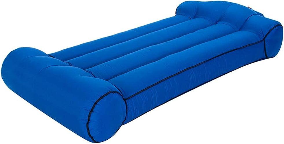 XuBa Lit pneumatique portatif pour Une Utilisation en Camping sur la Plage Bleu Marin