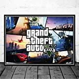 baiyude dipinto su tela poster e stampe videogioco gta 5 auto art personaggio wall art picture living room decor p-1477-m 40cmx60cm senza cornice