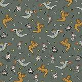 Hans-Textil-Shop Stoff Meterware Ritter Drachen Baumwolle -