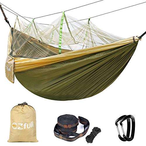 Ezfull Double Camping Hammock with Mosquito Net 660LBS Bearing Portable Outdoor Hammocks,10ft...