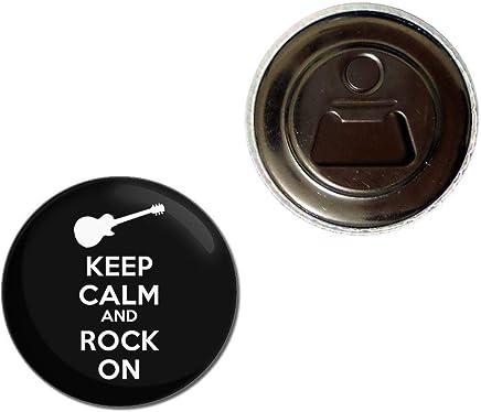 Keep Calm and Rock On Ouvreur de bouteille daimant de r/éfrig/érateur de 55mm