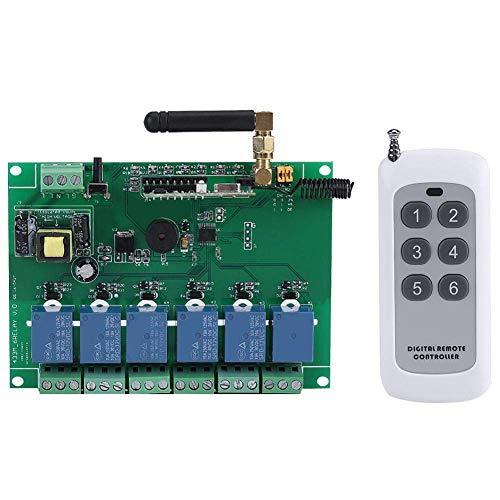No logo Tin-YAEN Switch RF Remote Module, 1pc 110-240V 6 canali RF relè Bordo del modulo Remote Control Switch for R3 Mega 2560 1280 DSP Braccio PIC AVR STM32 Raspberry Accessori