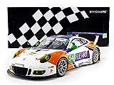 MINICHAMPS-Porsche-911/991 Gt3 R-24H Daytona 2017 Voiture Miniature de Collection, 155176954, Blanc/Rouge/Bleu