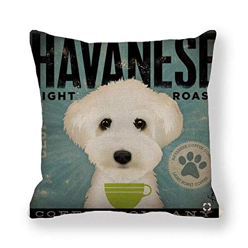 SHASO 45Cm * 45Cm Kissenbezug Bier Tasse Hundedesign Leinen/Baumwolle Kissenbezug Sofa Und Home Dekorative Kissenbezug 12
