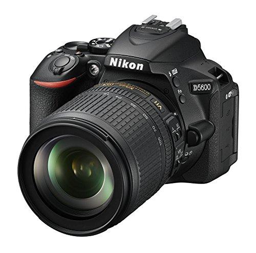 "Nikon D5600 - Cámara réflex de 24.2 MP (pantalla táctil de 3"", Full HD) negro - kit con objetivo AF-S DX 18 - 105 mm VR, versión europea"