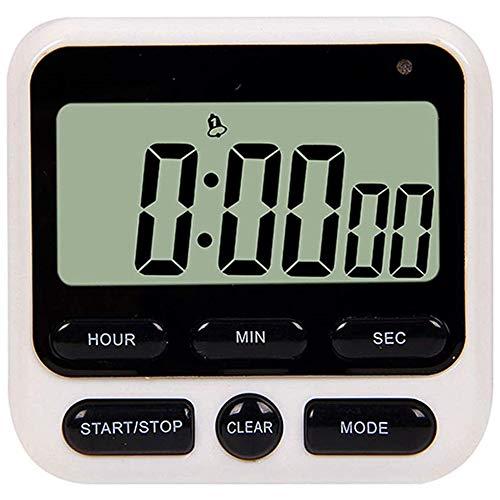 POWER BANKS Wecker Küchentimer Digitale Zeitmessung Elektronische LCD Countdown-Uhr mit Stehhalterung, einstellbare Schallintensität und Blitzlicht (2 STK.)
