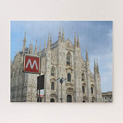 Wooden Jigsaw Puzzle 500 Piece for Adults, Milan, Italy, The Duomo Jigsaw Puzzle ame Toys ift Jigsaw Puzzle