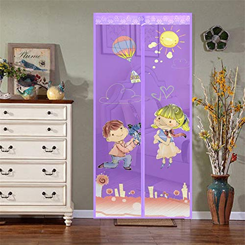 Sommer Magnet Typ Moskitonetz Türnetz bestickt Anti-Moskito Tür Vorhang Paar Muster automatisch schließen Fenster Bildschirm Türnetz A5 B100xH210