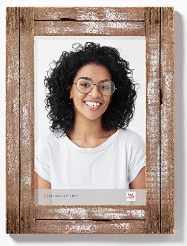 walther design Dupla Portraitrahmen 20x30 cm, weiß/natur