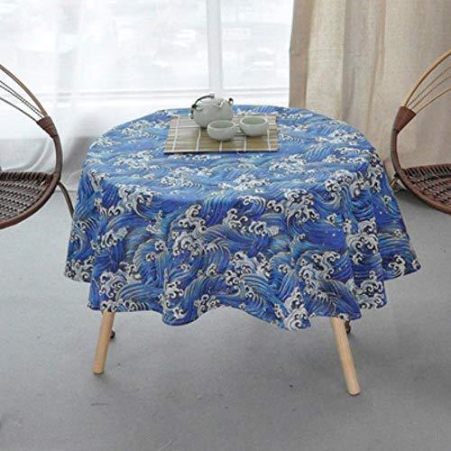 EDCV Home tafelkleed Katoen Rond Tafelkleed Kleur Geel Rijst Woord Grijs Pijl Katoen en Linnen Bedrukt Tafelkleed Custom, kerst tafelkleed