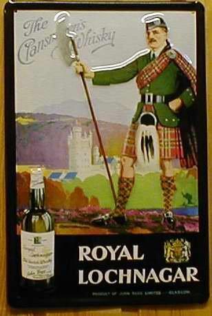 Royal Lochnagar Whisky Blechschild, 20 x 30 cm