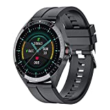 The Dragon Good Smart Watch Sport Fitness impermeable pantalla táctil completa hombres mujeres smartwatch, negro,