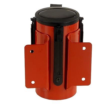 RS-GUIDESYSTEMS GLW 25-D//13-4,0 Gurt-Wandkassette rot//wei/ß innen Gurt: 4 m aus Stahl rot Kunststoff