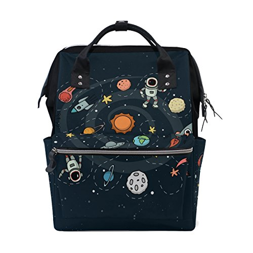 MaMacool Mummy bag Diaper Tote Bags Larger Capacity Baby Nappy Bag Outer Space Muti-Function Travel Backpack