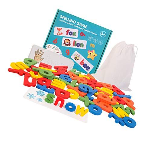 NUOBESTY Passende Buchstaben Spiel Buchstaben Rechtschreibung Und Schreiben von Spielzeug für Kindergarten Alphabete Buchstaben Wort Passende Spiele für Kinder Rechtschreibung Puzzle