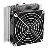 Semiconductor Refrigeration System, 12V Semiconductor Refrigeration Thermoelectric Peltier Cold Plate Cooler with Fan electronics components Refrigeration DIY Kits