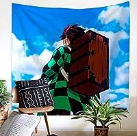 タペストリー壁掛けスレイヤー3Dプリントデーモンアニメパターン家の装飾、壁画布ベッドサイド背景掛け布団カーテンB