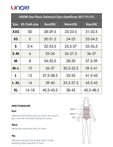 UNOW Women Pro Training Racerback Slimming One Piece Swimsuit (Black,S)