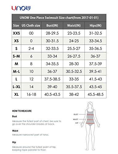 UNOW Women Pro Training Racerback Slimming One Piece Swimsuit