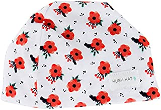Hush Baby Hat with Softsound Technology and Medical Grade Sound Absorbing Foam, Snow Poppy, Red, Small