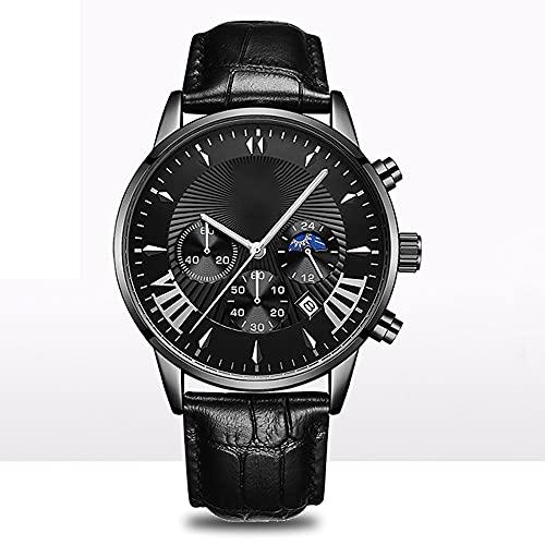 La Moda Relojes Hombre, Negocios Cuarzo Simulado,Relojes De Pulsera Cronografo Diseñador Impermeable ,Acero Inoxidable Cinturón De Malla Relojes De Pulsera (Material : Belt)