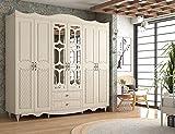 rabi Cansu Country 6 Tapdded 2 Cajones Armario | Diseño Personalizado Cubierta de Membrana | Fácil instalación | Alto: 190...