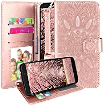 T-Mobile REVVL 2 Case, Harryshell Kickstand Flip PU Leather Protective Wallet Case Cover with Card Slots Wrist Strap for T-Mobile REVVL 2 (5.5 inch) 2018 (Rose Gold)