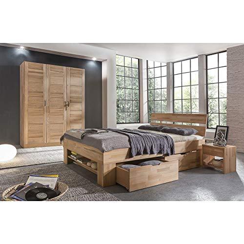 Roominado Armario ropero moderno, 2 puertas de madera de haya maciza