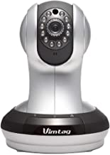 Vimtag VT-361 Super HD WiFi Video Monitoring Surveillance Security Camera, Plug/Play, Pan/Tilt with Two-Way Audio & Night Vision (Renewed)