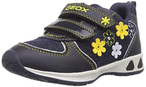 Geox B TEPPEI Girl A, Sneaker per Neonati Bambina, Blu (Blau (NAVYC4002)), 20