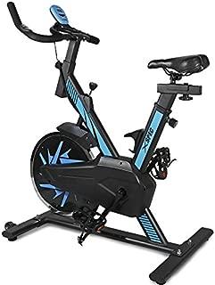 Xspec Pro Stationary Upright Blue Exercise Bike Cycling Bike, 25 LB Flywheel, Heart Pulse Sensors,Indoor Cardio Fitness Cycling Machine Gym Workout Training Stationary Bike