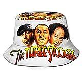 Photo de leiqing The Three Stooges Fisherman Sun Cap Buet Chapeaux pour Homme Femme Vintage Rollable