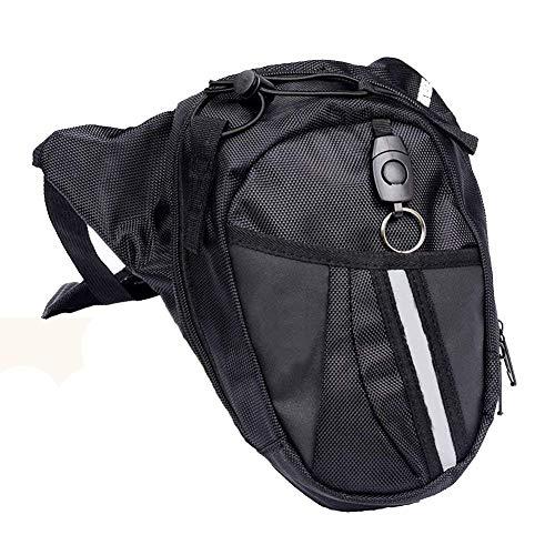 DQMEN Bolso de pierna Monedero multifuncional de nylon Para viajes Ciclismo Escalada Senderismo Camping Riding Bike Motorcycle Pack Bolso de Pierna de Tela de Lona