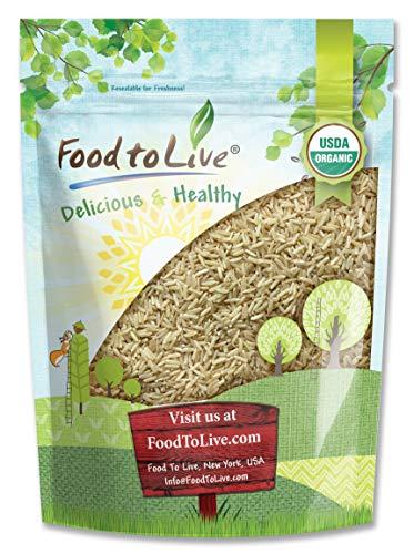 Organic Thai Jasmine Brown Rice, 3 Pounds — Non-GMO, Raw, Whole Grain, Non-Irradiated, Kosher, Vegan, Bulk