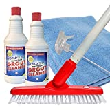 World's Best Heavy-Duty Grout Cleaning Kit | Grout Cleaner, Brush Scrubber with Adjustable Pole Handle, Microfiber Cloth, Spray Bottle | Safe for Ceramic & Porcelain Tiles | Cleans Dirt, Mould, Stains