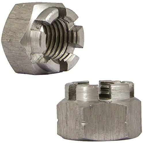 ISO 7035 M30 Kronenmuttern rostfrei Eisenwaren2000 2 St/ück - Sicherungsmutter DIN 935 Edelstahl A2 V2A