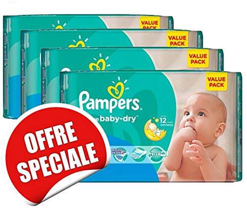 Couches Pampers - Taille 3 active baby dry - 204 couches bébé