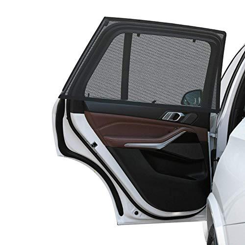 LEBEXY Sonnenschutz Auto Baby mit UV Schutz | Sonnenblende Auto Netz | Seitenfenster Autofenster Sonnenschutzrollos Heckscheibe für Kinder Baby Erwachsene Haustiere, 2 Stück