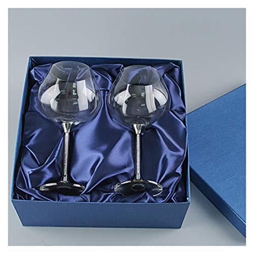 YAOQIHAI Vino Vino 650 ml Copas de Copa de Vino Tinto Rhinestones Decorados STEMWARE Ajuste para LA Boda 2019 CUBLET CHOBLET SECE DE LA Base Champagne (Capacity : 601 700ml, Color : Gift Box)